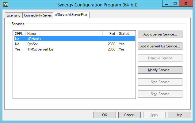 Synergy Control Panel Should Allow the Export and Import of